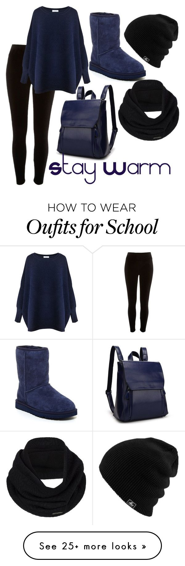 """Must.........Stay .......Warm"" by taoptimist on Polyvore featuring River Island, Paisie, UGG and prAna"
