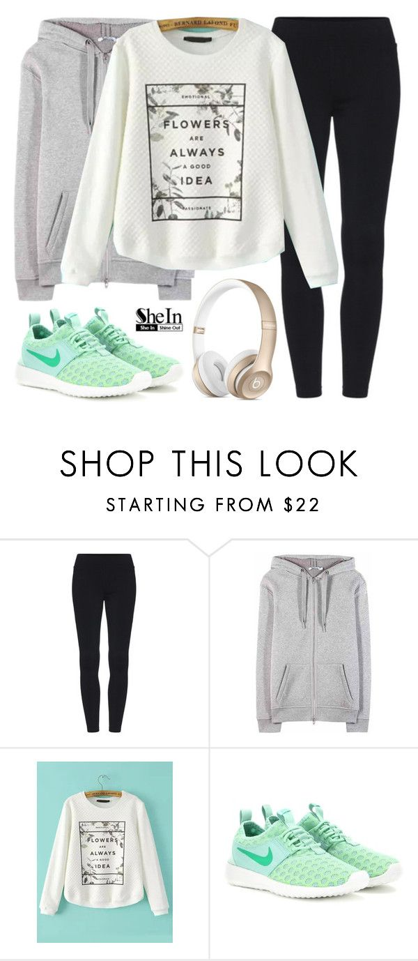 """""""Running with my best friend   SheIn 8"""" by alexandra-provenzano ❤ liked on Polyvore featuring T By Alexander Wang and NIKE"""