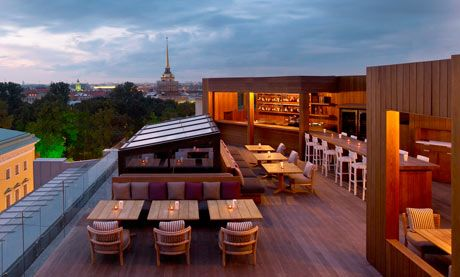 The mixUp Terrace of the W St Petersburg