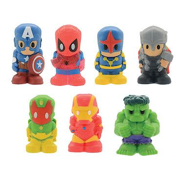 Ooshies Figuras De Marvel Lápiz Toppers 7 Pack-Serie 2 Set 1