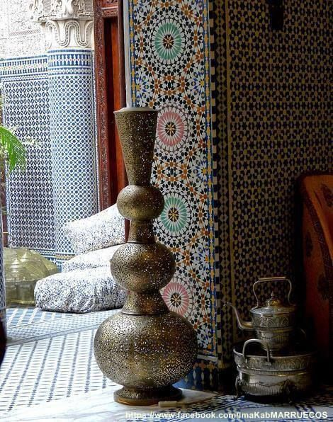 Moroccan decor- love these tiles