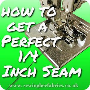 Sewing Bee Fabrics Tutorial How To Sew A Quarter Inch Seam. Getting a precise 1/4 inch seam is especially important in quilting, but what happens if your seam goes wonky when your sewing a fitted bodice or a toy? Nobody wants bumpy boobs or a slanted face! The quarter inch... #sewingmachine