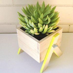 Down That Little Lane Mini Timber Planter, $42