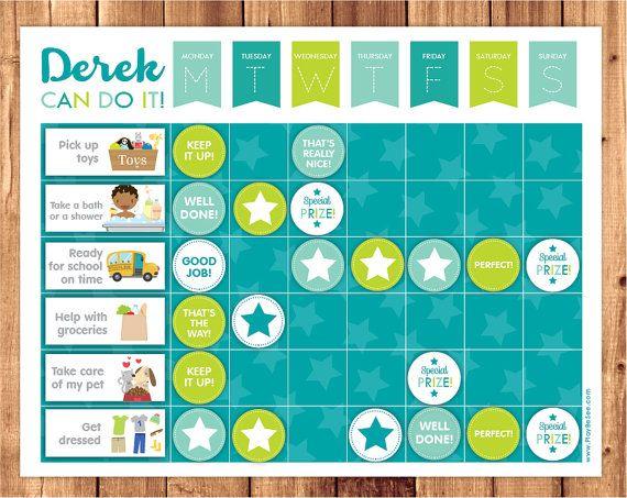 ► DIY Tabla de Progresos Azul  Las tablas de progresos pueden ser una herramienta muy útil a la hora de manejar problemas de conducta en los