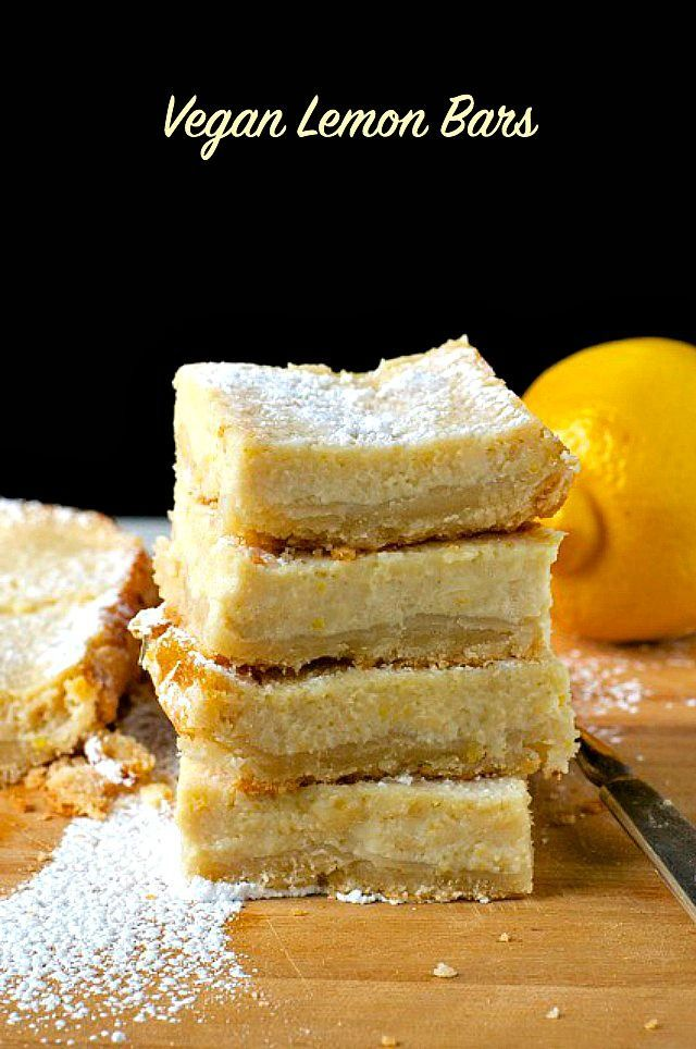 Vegan Lemon Bars - a delicious, healthy, egg-free treat for the whole family to enjoy!
