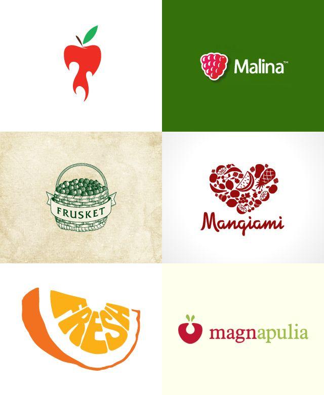 Inspiração para logotipos: Frutas