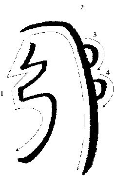 """The next symbol is """"Sei Hei Kei"""" aka """"Mental/Emotional Symbol"""" or """"Harmony"""". It means """"Mind Be Still"""". This is Mental Symbol and it's used for purification, cleansing and protection. It directs energy to the emotional body or subconscious mind."""