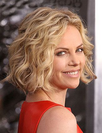 blunt bob with long layers, great for fine wavy hair like charlize long bob hairstyles for fine hair