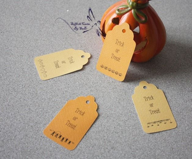 Gift Tags – Set 4 Tag Trick or Treat – a unique product by Sahbry82 on DaWanda