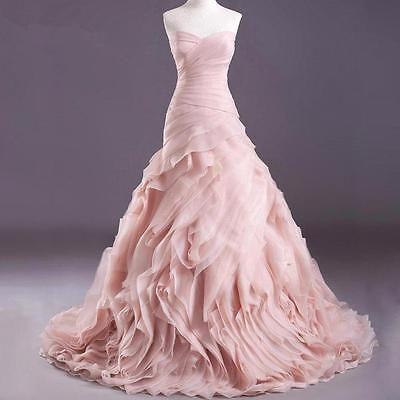 High Quality Blush Pink Wedding Dresses Organza Mermaid Bridal Gown Custom Size