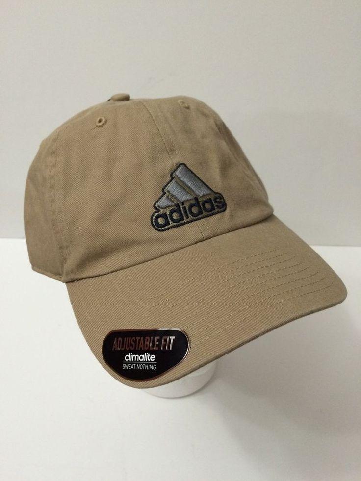 adidas Training Baseball Hat Adjustable Climalite Cap Cotton Sport Washed Khaki #adidas #BaseballCap