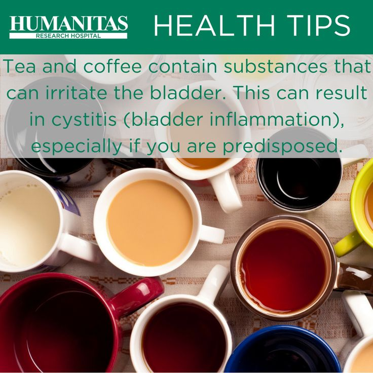 Tea and Coffee are the two most widely consumed beverages since ancient times. If you are predisposed to cystitis though they can be a health risk.