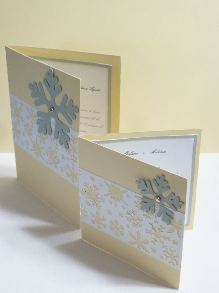Announcement and invitation line snowflakes