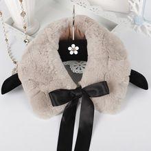 2014 winter mode 100 % echt rex konijn bont sjaal echt bont winter sjaals voor vrouwen bovenkleding warme nep kraag(China)