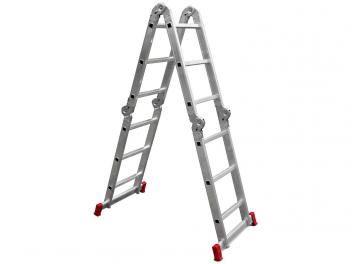 Escada de Alumínio Articulada Doméstica - 12 Degraus e 13 Posições - Botafogo 292