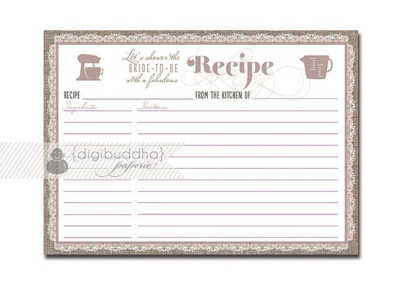 15 best Recipe card images on Pinterest Paper, Cards and Food ideas - recipe card