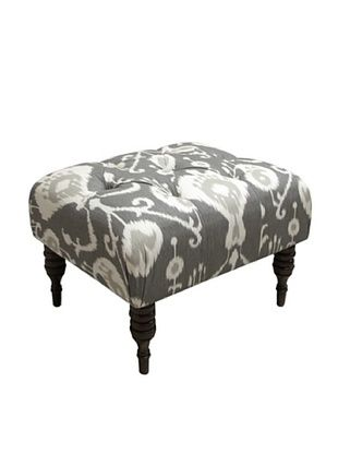 65% OFF Skyline Tufted Ottoman, Pewter