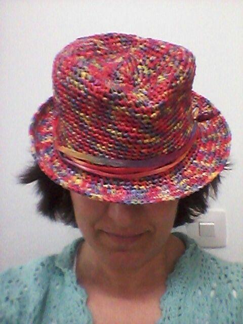 Sombrero hecho raphia
