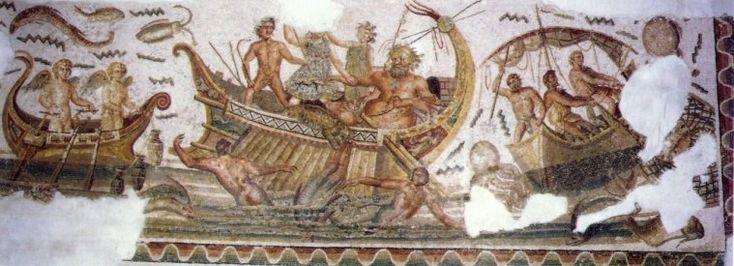 Dionysos verwandelt die Piraten in Delphine