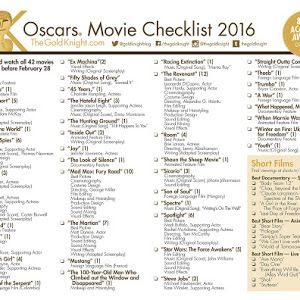 2016 Golden Globe Awards printable ballot - The Gold Knight - Latest Academy Awards news, predictions and insight