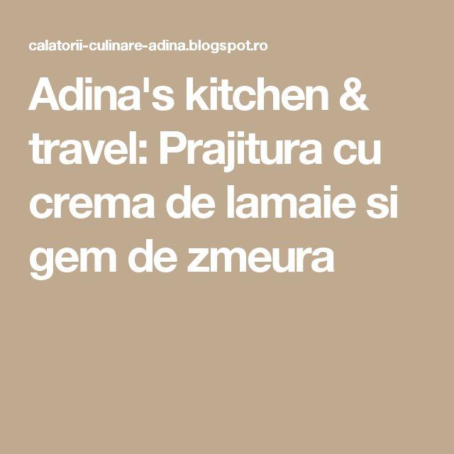 Adina's kitchen & travel: Prajitura cu crema de lamaie si gem de zmeura