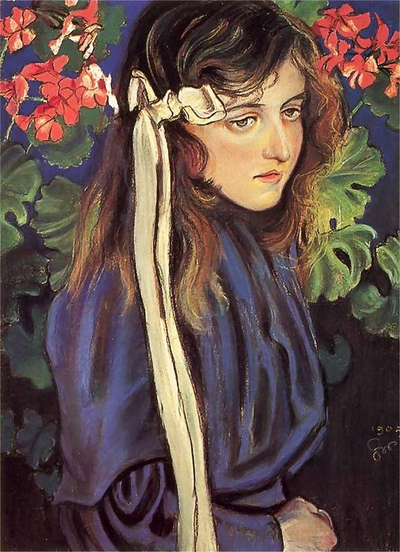 """Stanisław Wyspiański """"Portret Elizy Pareńskiej"""", 1905 (Muzeum Narodowe w Kielcach)"""