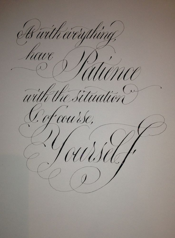 42 Best Calligraphy For Everyday Images On Pinterest