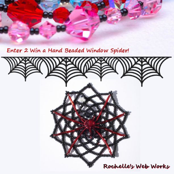 Win this Window Spider Hanger created by Rochelle's Webworks! Hand Crafted with matted seed beads, 2 Czech Fire Polished Beads, a fly and 1 window suction cup. ENDED 2014/09/05 12:00(PST)