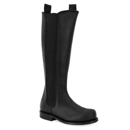 Prime Boots, Tall Støvle m/elastik, Sort