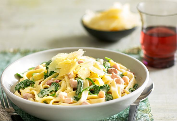A creamy fettuccine dish to satisfy hungry mouths.