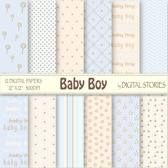 "Baby Boy libro digitale: ""BABY BOY"" - punti luce blu Lolipop crema - Buy2 ottenere 1Free - Download Instand"