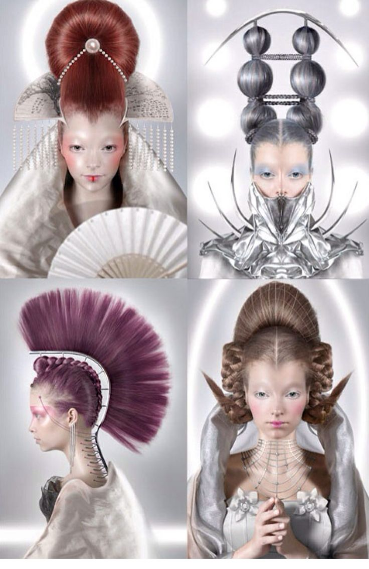 Avant garde hair and make up inspirations like the future
