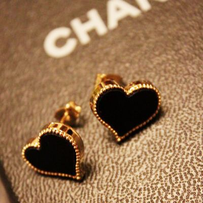 Chanel heart earrings