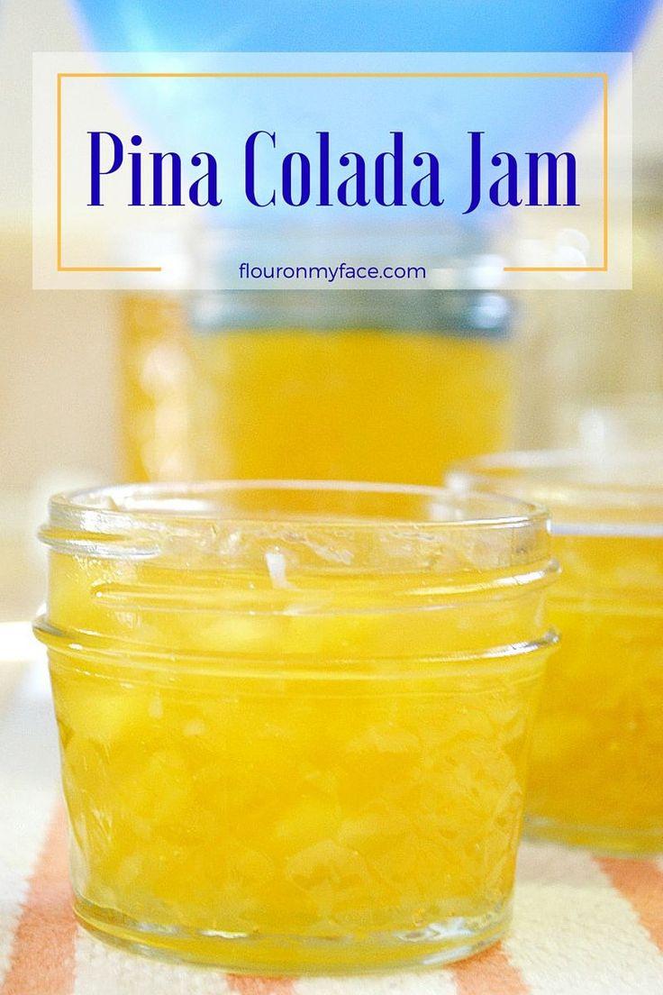 Pina Colada Jam recipe made in the Ball automatic jam and jelly maker via flouronmyface.com #ad #canitforward
