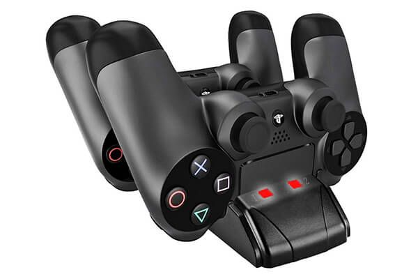 YOUSHARES Dual PS4 Controller Charger with Dual USB Charge Docking Station