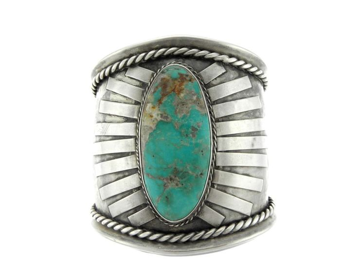 Awesome Navajo Sterling Silver Sun Rays Giant Bisbee Turquoise Cuff Bracelet in Jewelry & Watches, Ethnic, Regional & Tribal, Native American | eBay