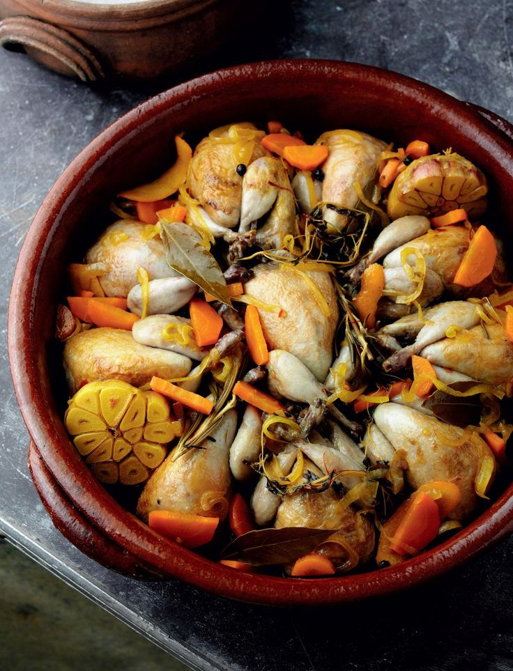 Quail Marinated in Wine, Vinegar, Spices and Herbs (Codornices en escabeche) - The Happy Foodie