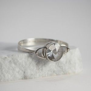 Silver and rock crystal bracelet from Erik Granit