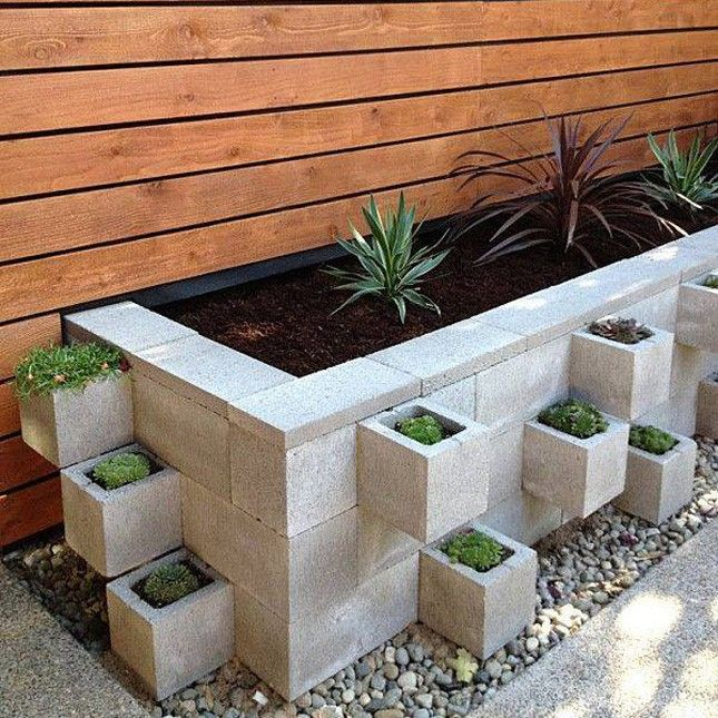 9 DIY Cinder Block Gardens That Will Make You Want to Grab Your Gardening Tools via Brit + Co