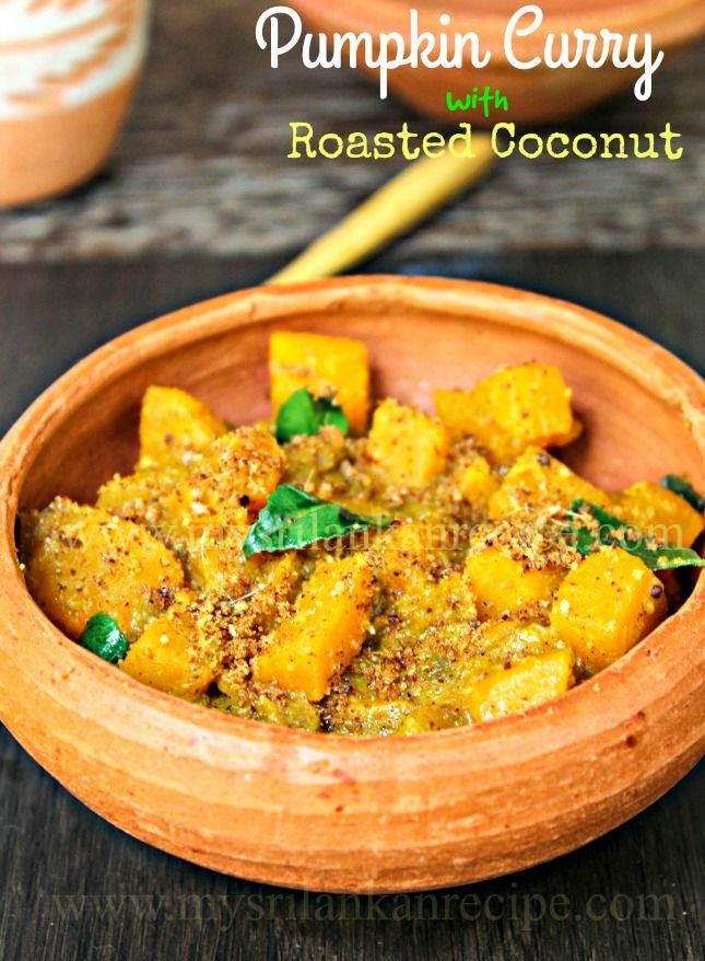 Pumpkin Curry with Roasted Coconut