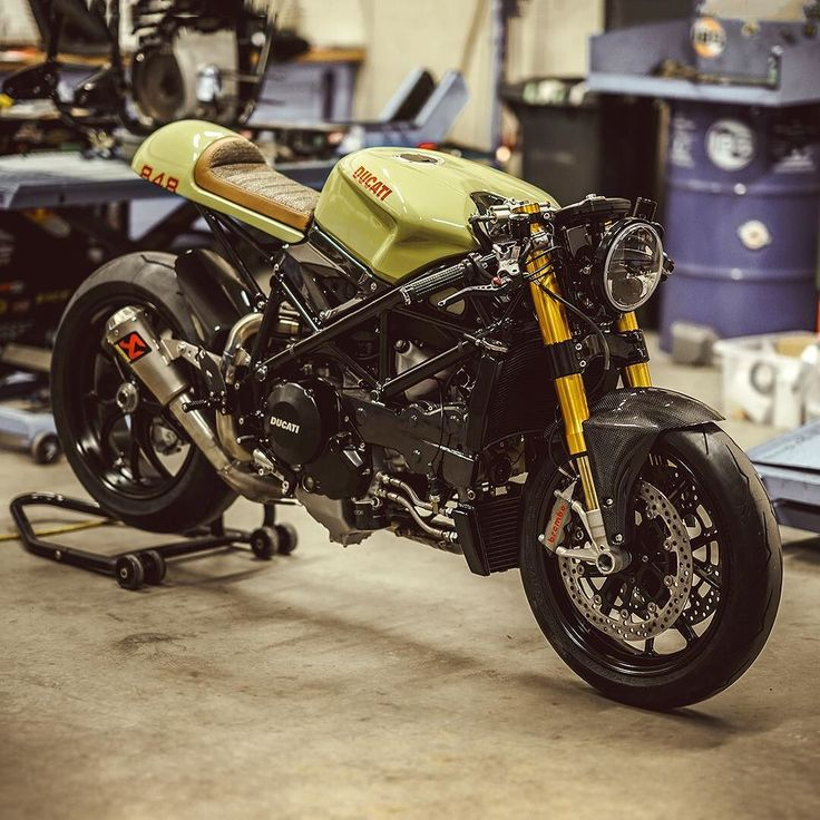 The Ducati 848 looks gorgeous straight out of the box, but this stunning cafe racer from @nctmotorcycles takes the pedigree Italian to a whole new level. There's new suspension from Öhlins, a custom...