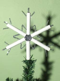 Oh this? It's a tampon applicator snowflake.