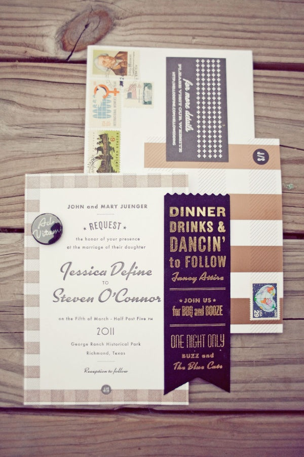 sending wedding invitations months before%0A Texas Ranch Wedding by The Nichols