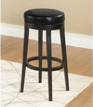 Armen Living Mbs 450 30 Backless Swivel Barstool Black