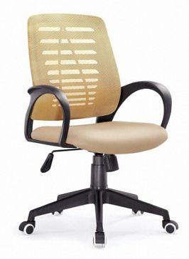 Спинка средней высоты , газовый механизм регулировки высоты кресла, функция наклона назад, фиксированное положение подлокотников, ножки на роликах