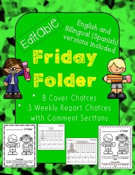 """Keep parents up-to-date about their child's progress on a weekly basis with this packet. Keep them informed about their child's academics as well as behavior. I've used this for years with great feedback from both parents and administrators. I've """"cutesied"""" it up a bit for you with fun graphics on the cover so that the kids can personalize it."""