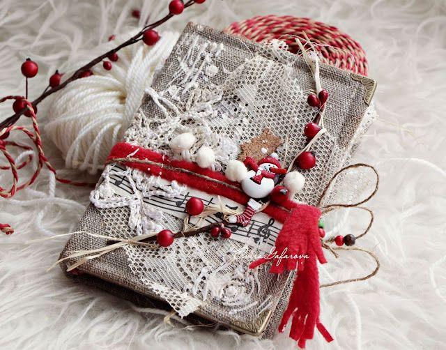 моё вдохновение: Зимний блокнот по вдохновению и упаковка к нему......