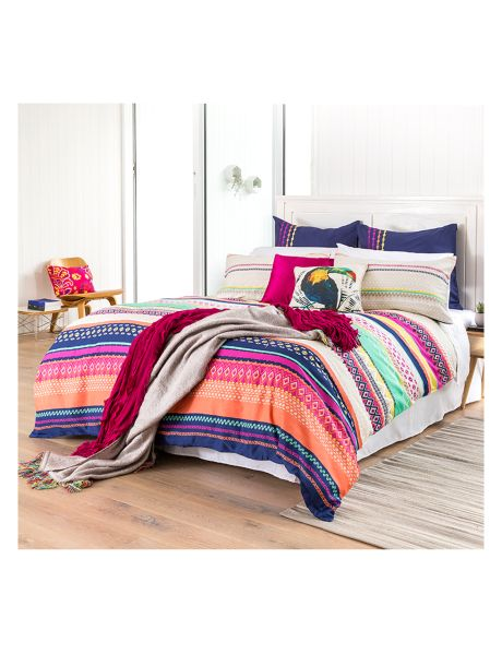Add some subtle colour to your room with the Farro duvet cover set by Keiko.