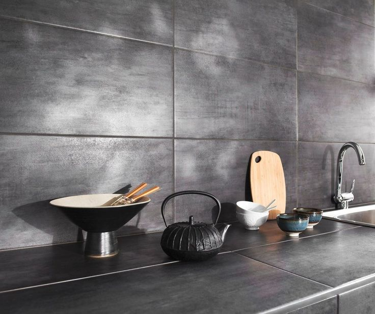les 25 meilleures id es de la cat gorie faiences de cuisine sur pinterest cuisines grises. Black Bedroom Furniture Sets. Home Design Ideas