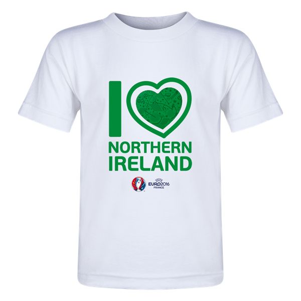 Northern Ireland Euro 2016 Heart Toddler T-Shirt